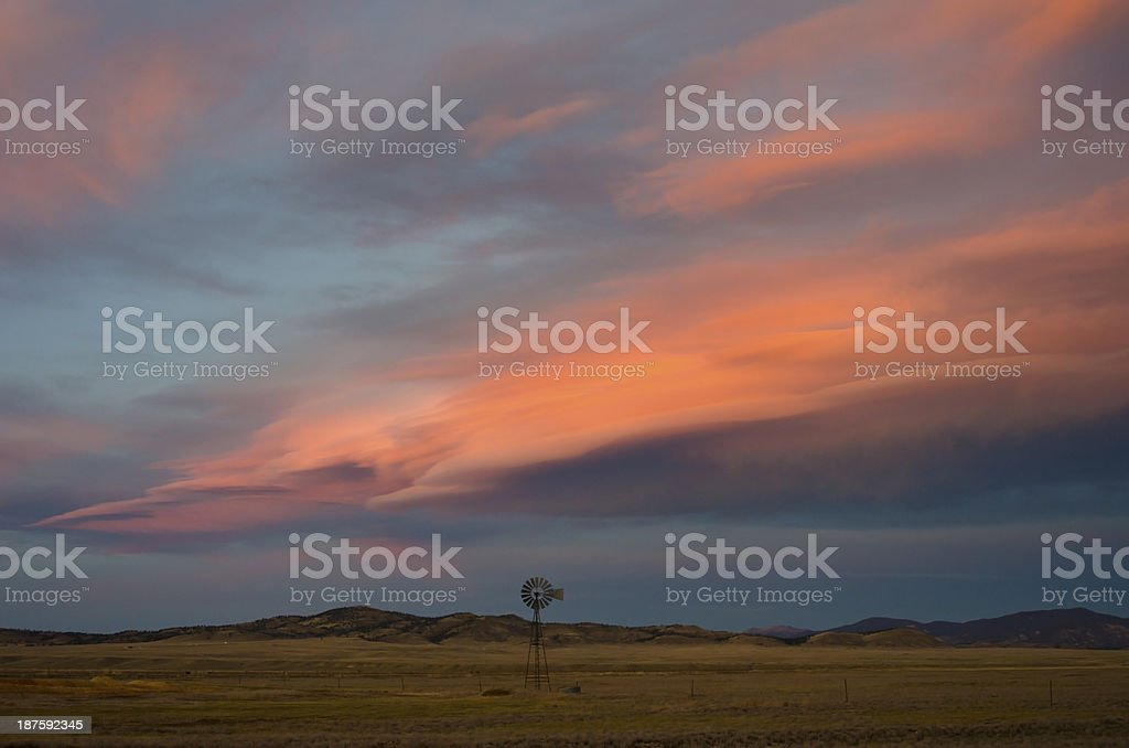 Alpenglow Over South Park, Colorado royalty-free stock photo