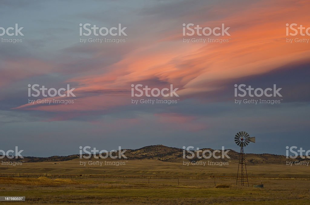 Alpenglow Over South Park, Colorado stock photo