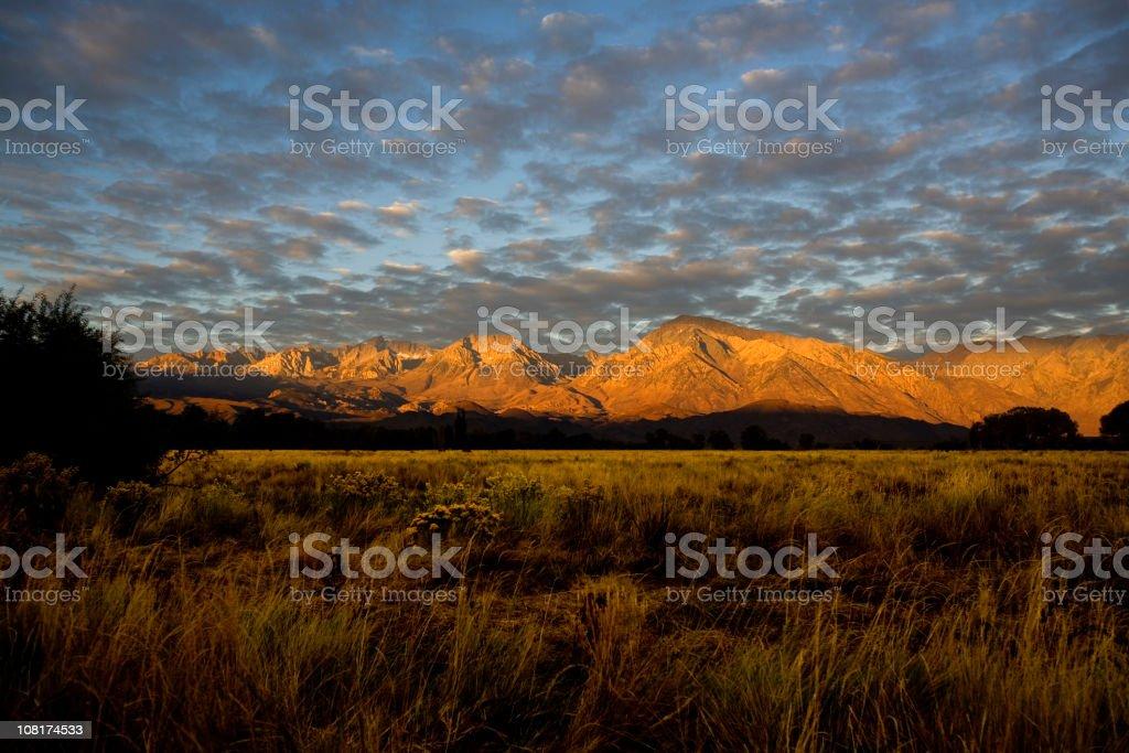 Alpen-glow royalty-free stock photo