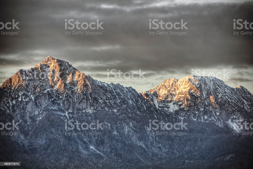 Alpenglow royalty-free stock photo