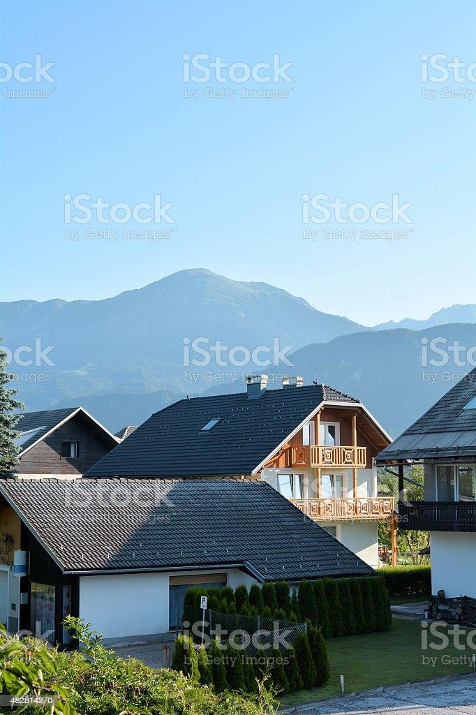 Alpenlandschaft in Slowenien stock photo