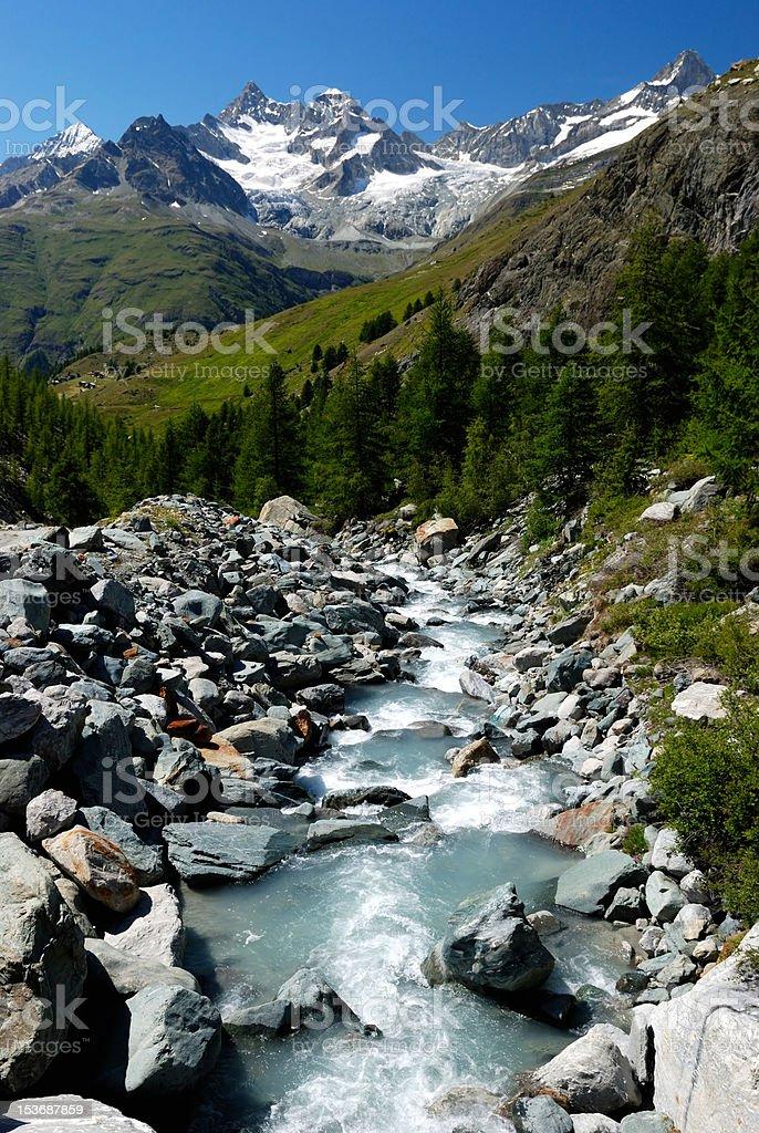 Alpes mountain river royalty-free stock photo