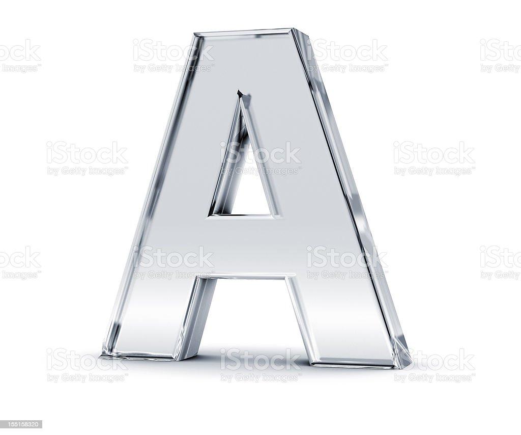 Alphabet A stock photo