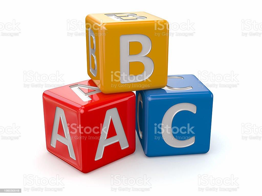 Alphabet. ABC blocks cube stock photo