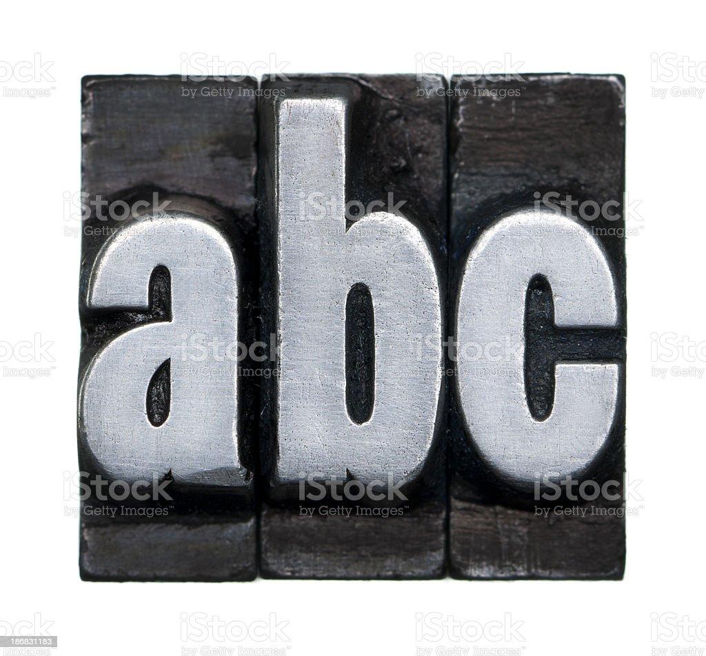 Alphabet abc - Letterpress letter stock photo