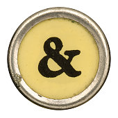 Alphabet - & Ampersand Key from old Manual Typewriter.