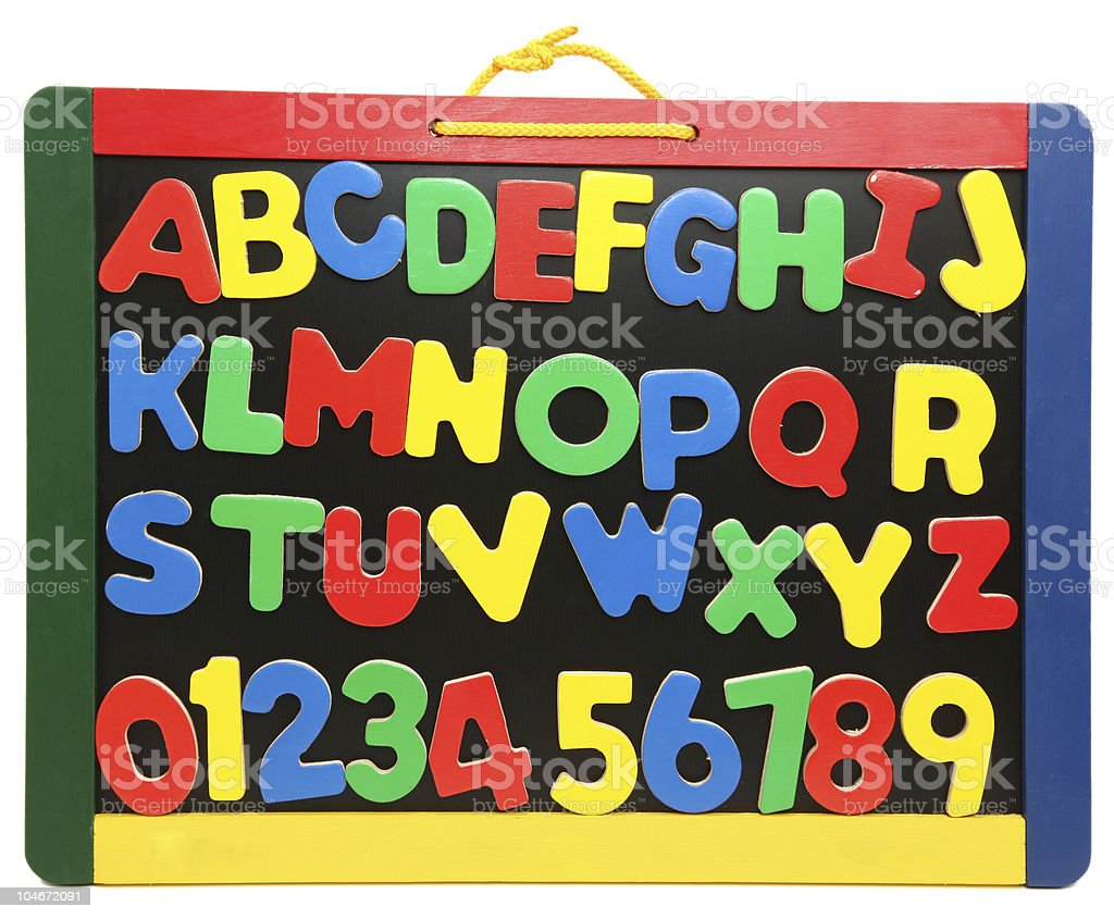 Alphabet and Numbers stock photo
