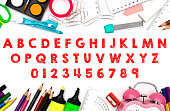 Alphabet and numbers