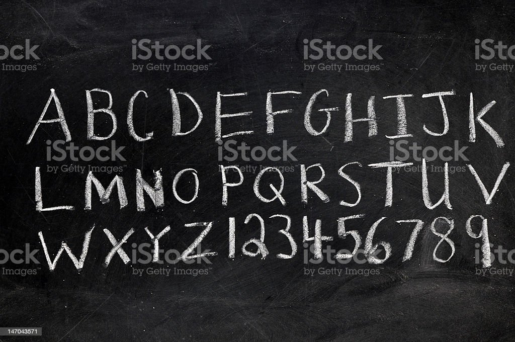 Alphabet and Numerals royalty-free stock photo