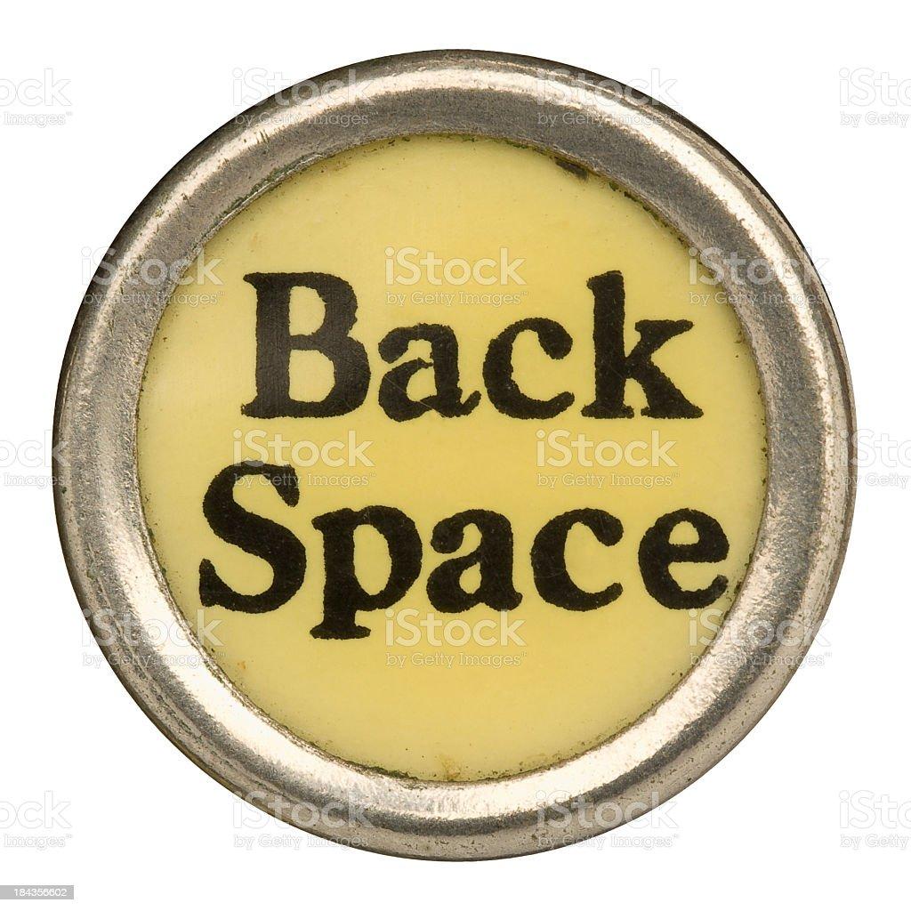Alphabet - Back Space Key from old Manual Typewriter. royalty-free stock photo