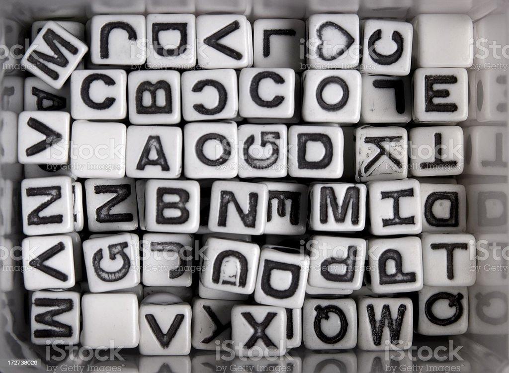 Alphabet Beads royalty-free stock photo