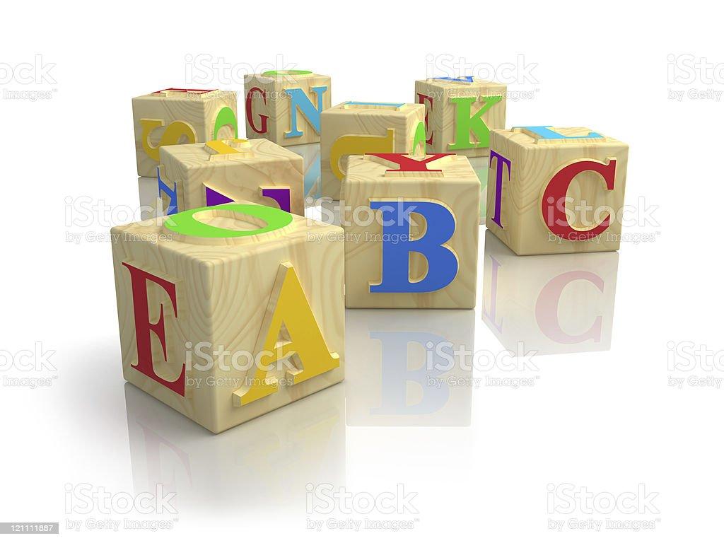 Alphabet block cubes stock photo