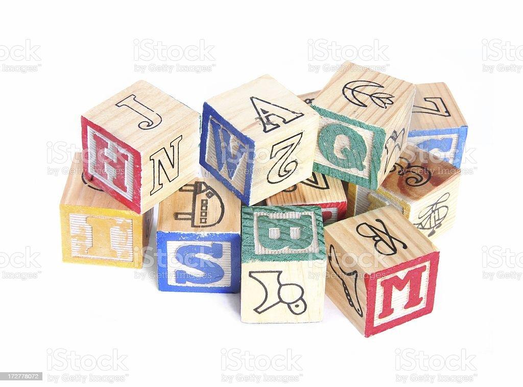 Alphabet Blocks in a Pile stock photo