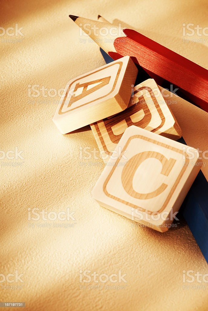 Alphabet Blocks royalty-free stock photo