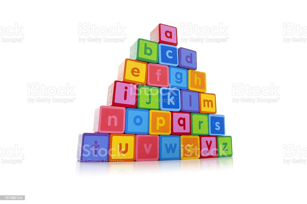 Alphabet blocks royalty-free stock photo