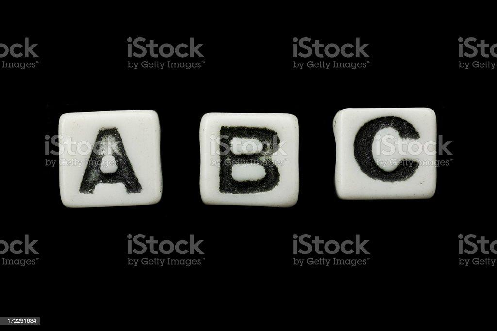 alphabet blocks (a, b, c) royalty-free stock photo