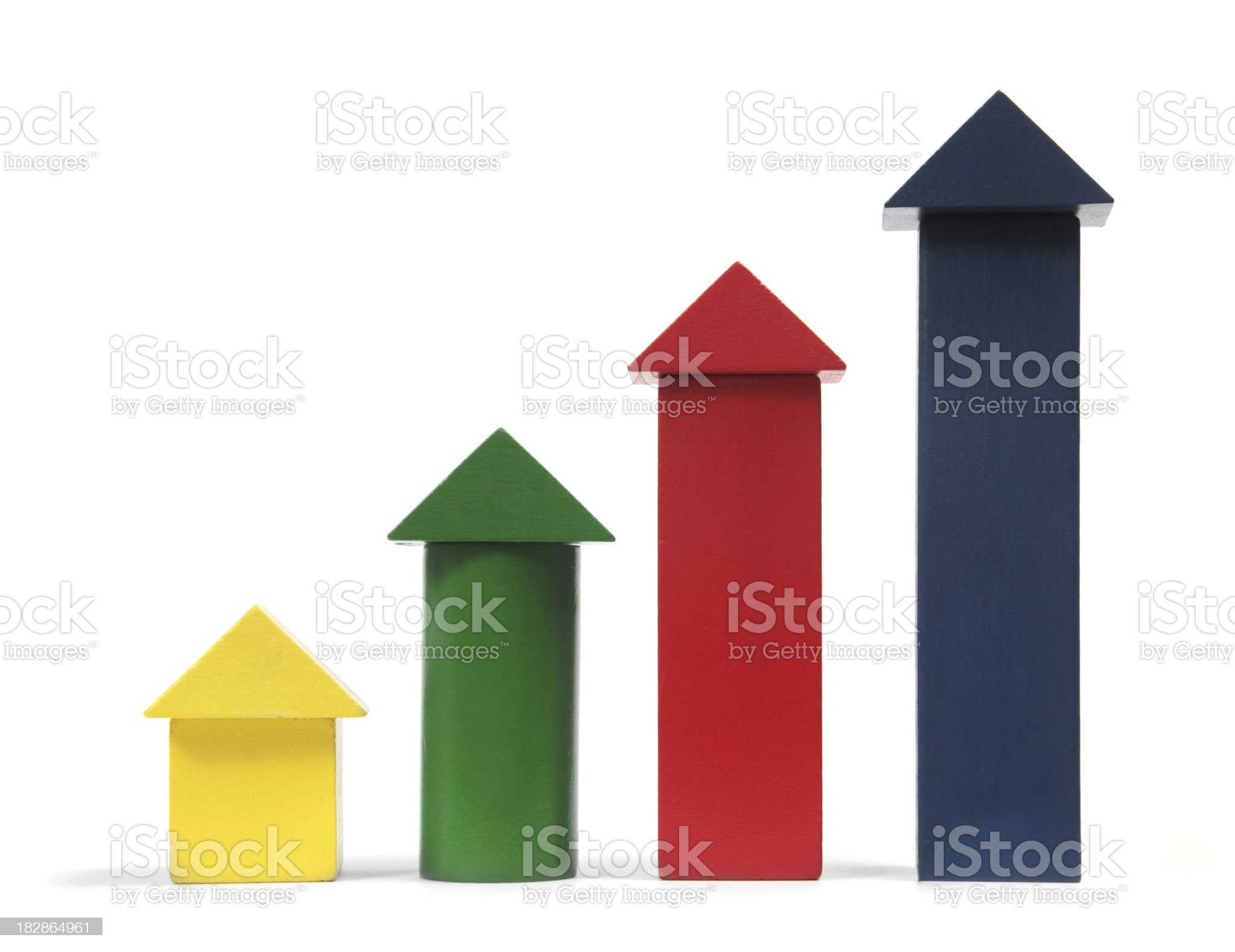 Alphabet Blocks Show Growth royalty-free stock photo