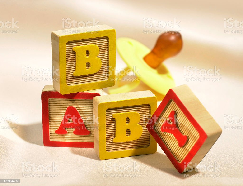 Alphabet blocks spelling Baby royalty-free stock photo