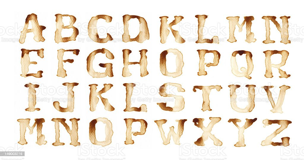 Alphabet coffee. royalty-free stock photo