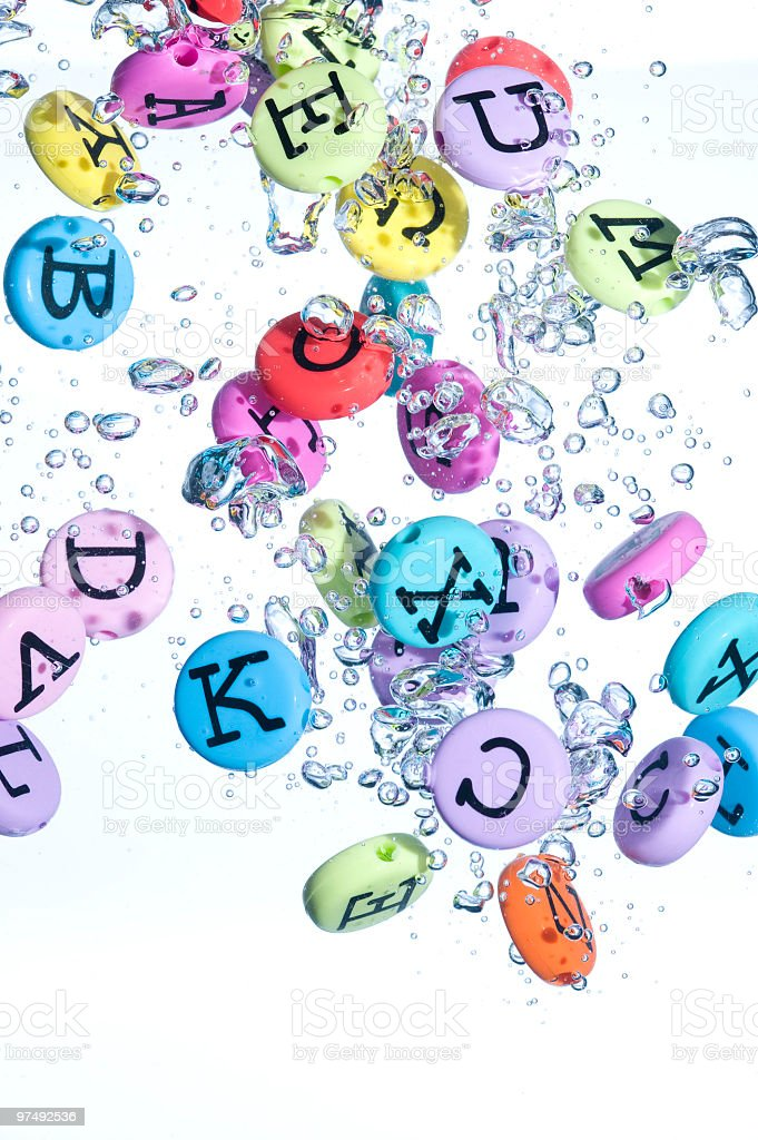 Alphabet colored background stock photo