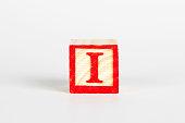 LETTER I alphabet cubes font
