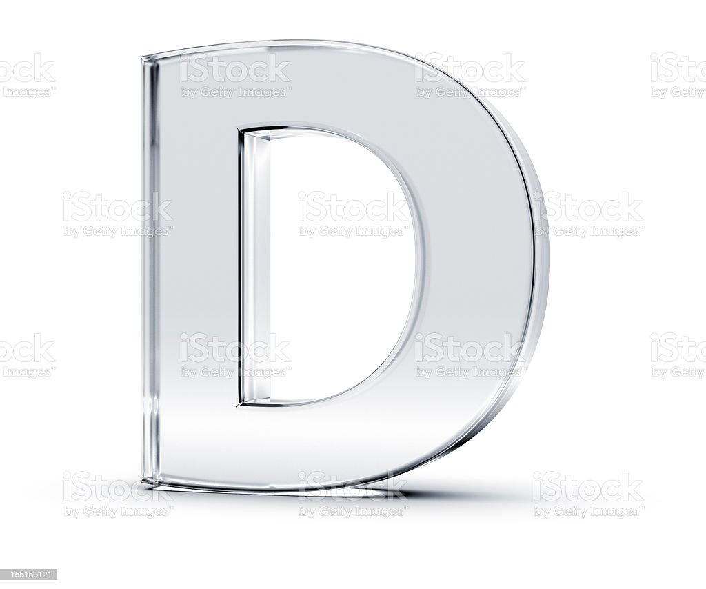 Alphabet D stock photo