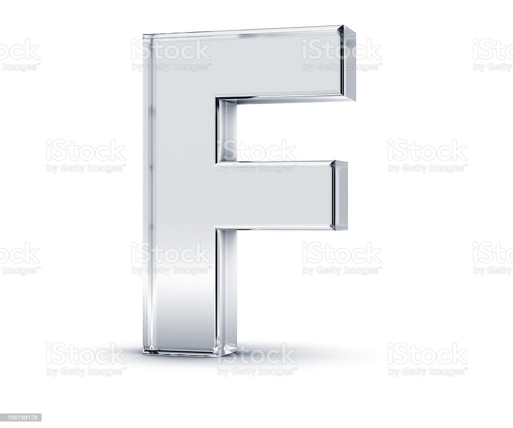 Alphabet F stock photo