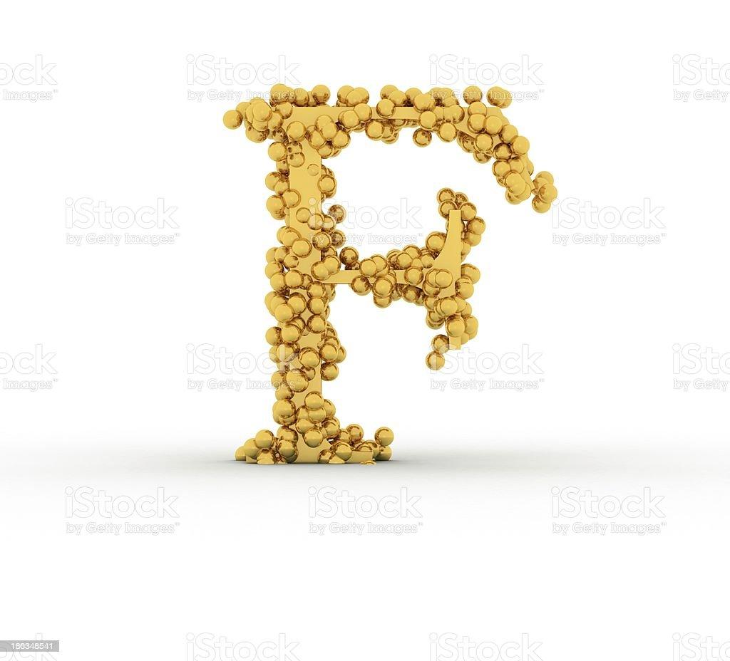 Alphabet F royalty-free stock photo