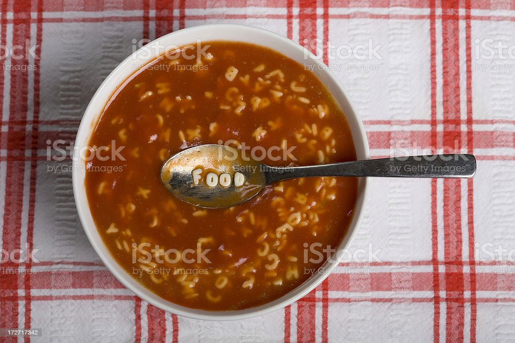 Alphabet Food stock photo