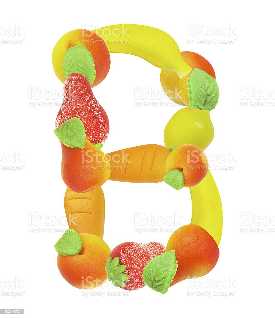 alphabet from fruit, the letter B royalty-free stock photo