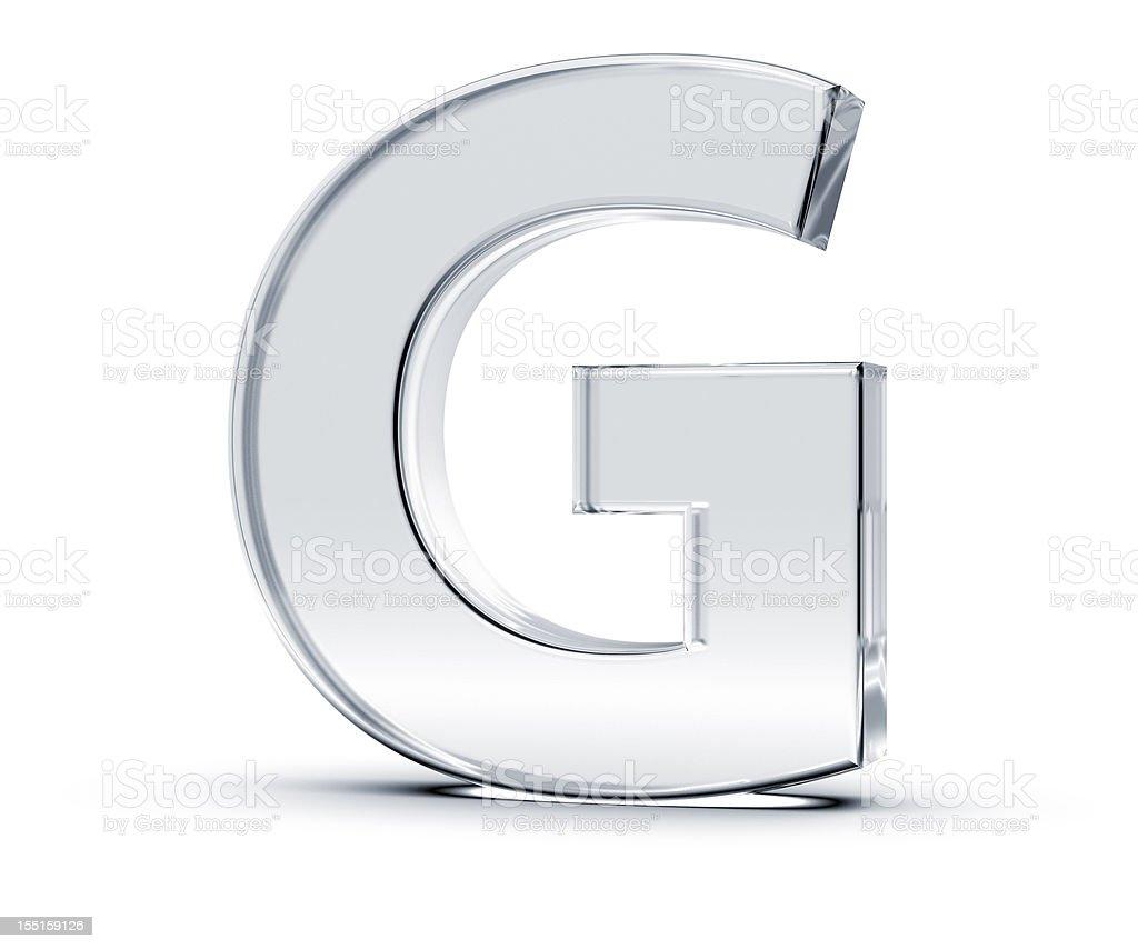 Alphabet G stock photo