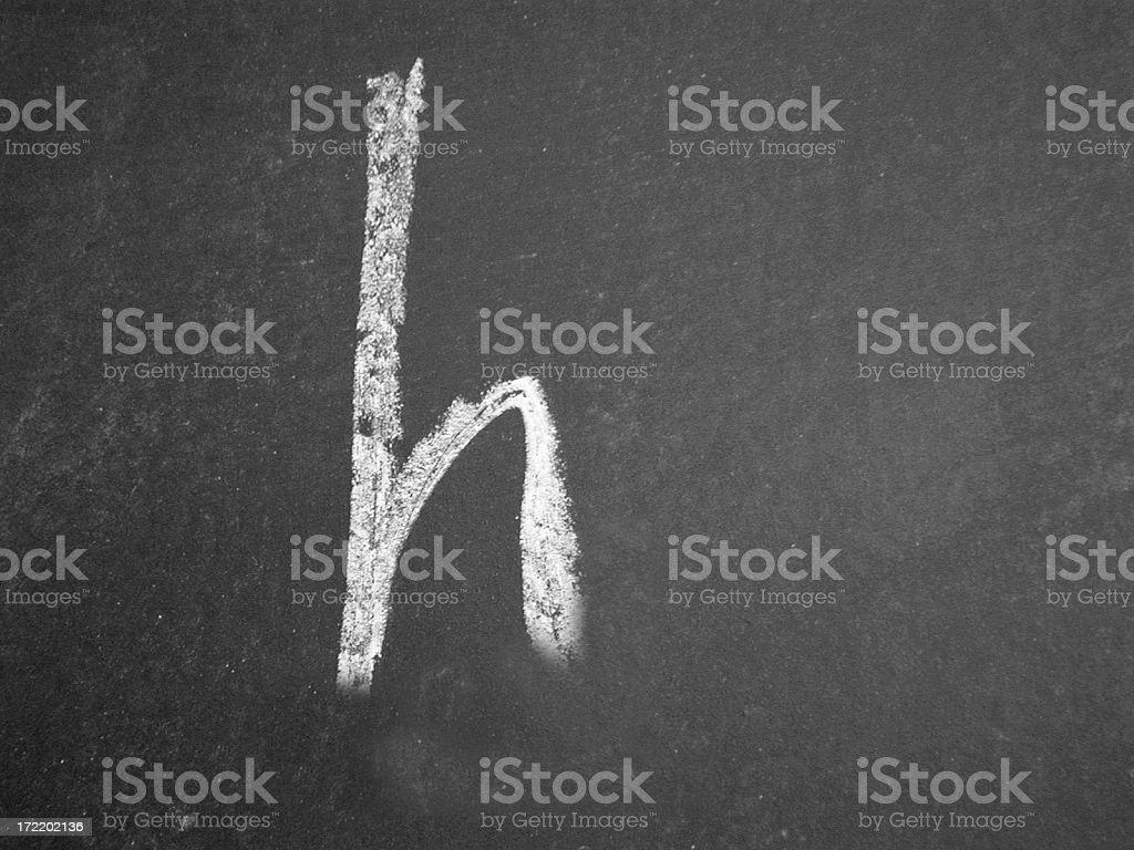 Alphabet - h - Chalk royalty-free stock photo
