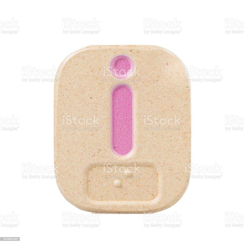 alphabet i on white background  with Braille stock photo