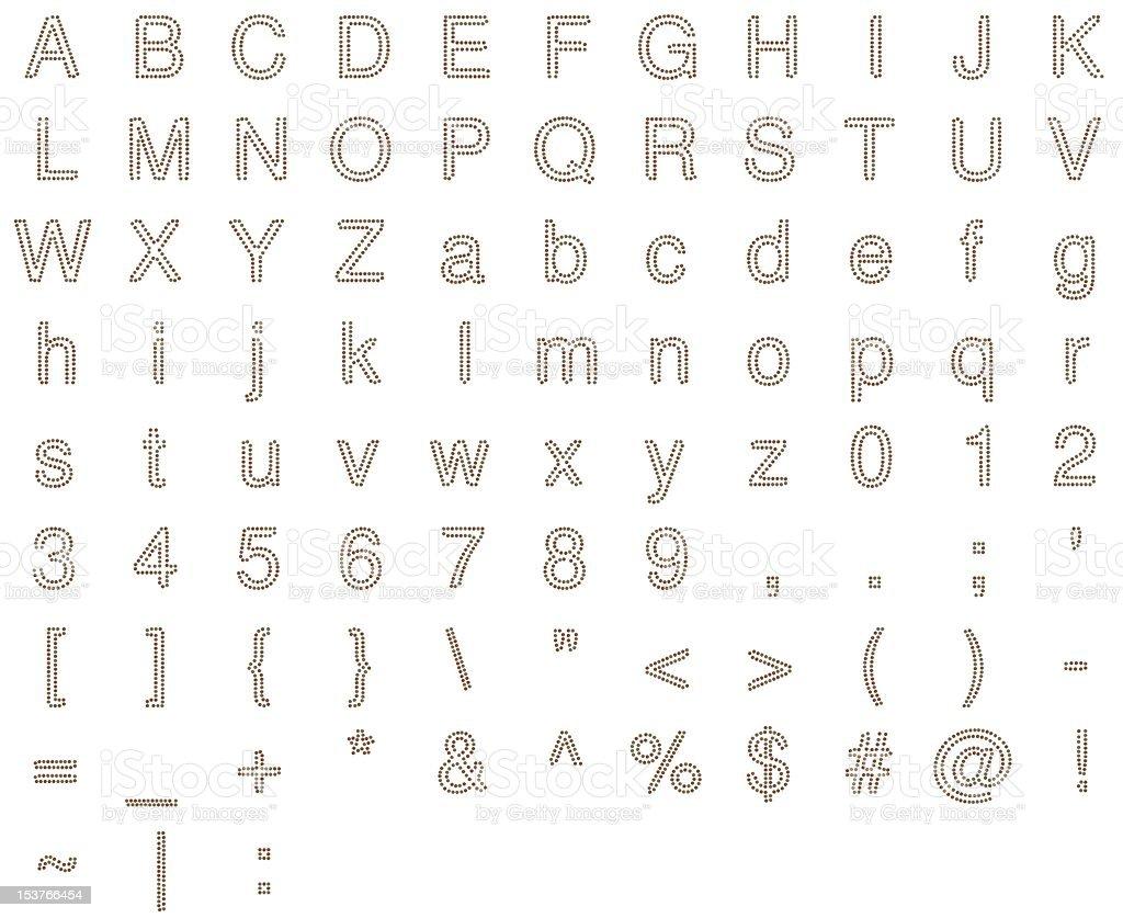 Alphabet in Coins stock photo
