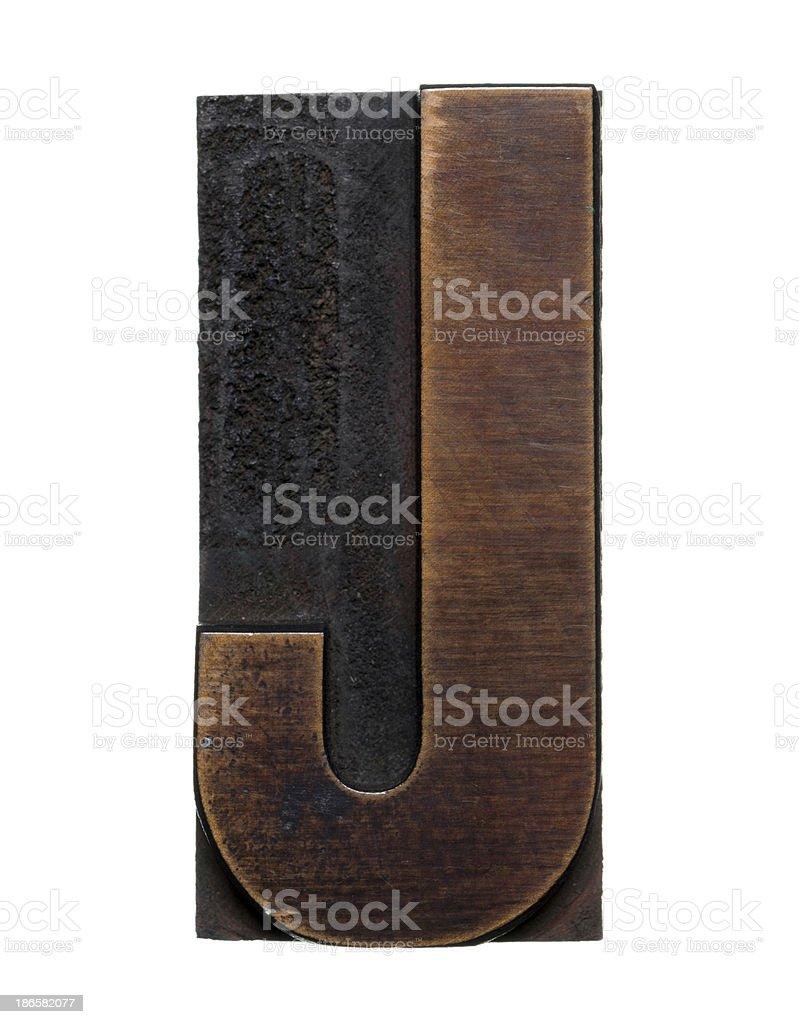 Alphabet J royalty-free stock photo