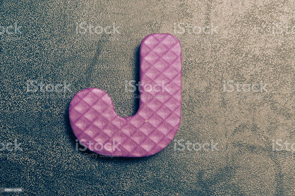alphabet j stock photo
