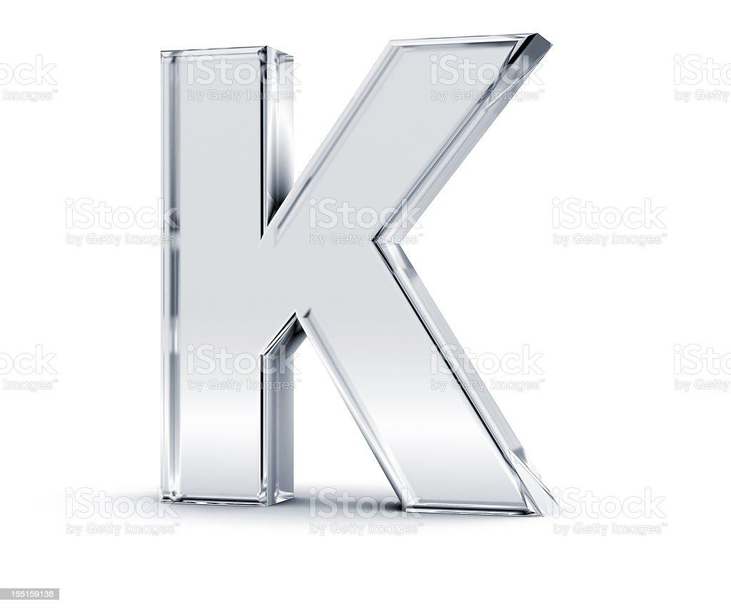 Alphabet K royalty-free stock photo