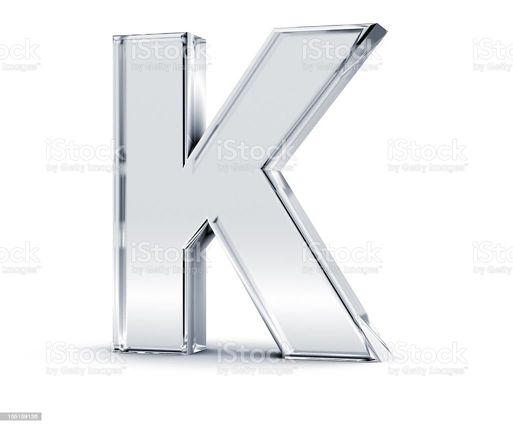 Alphabet K stock photo