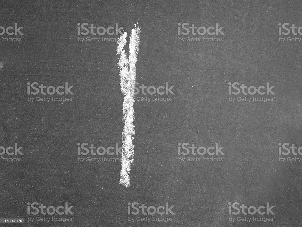 Alphabet - l - Chalk royalty-free stock photo