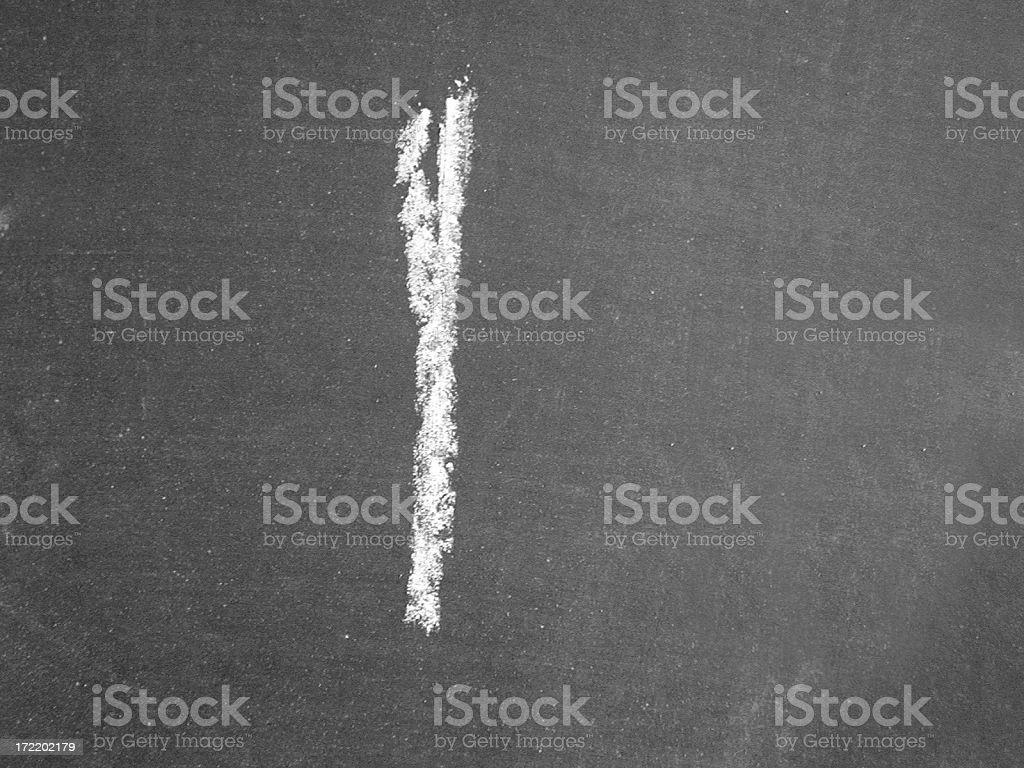 Alphabet - l - Chalk stock photo