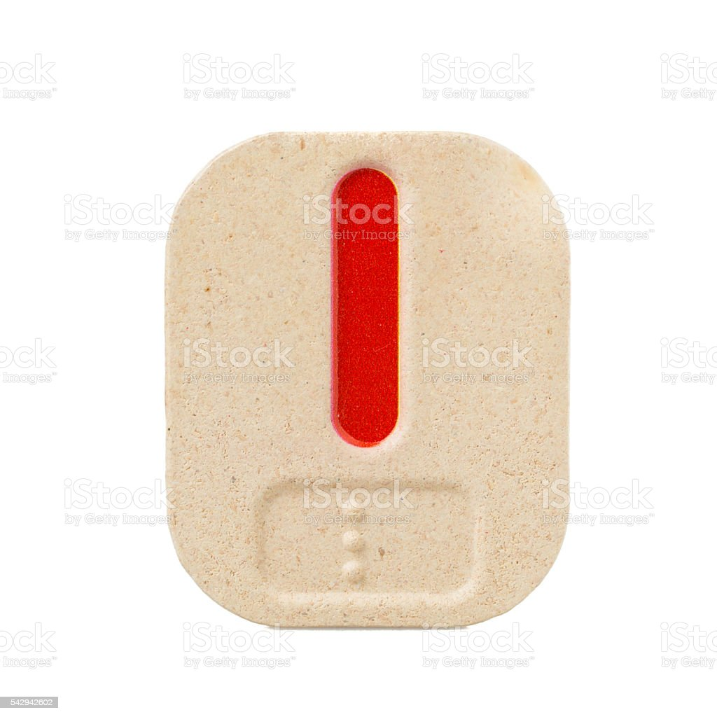 alphabet l on white background  with Braille stock photo