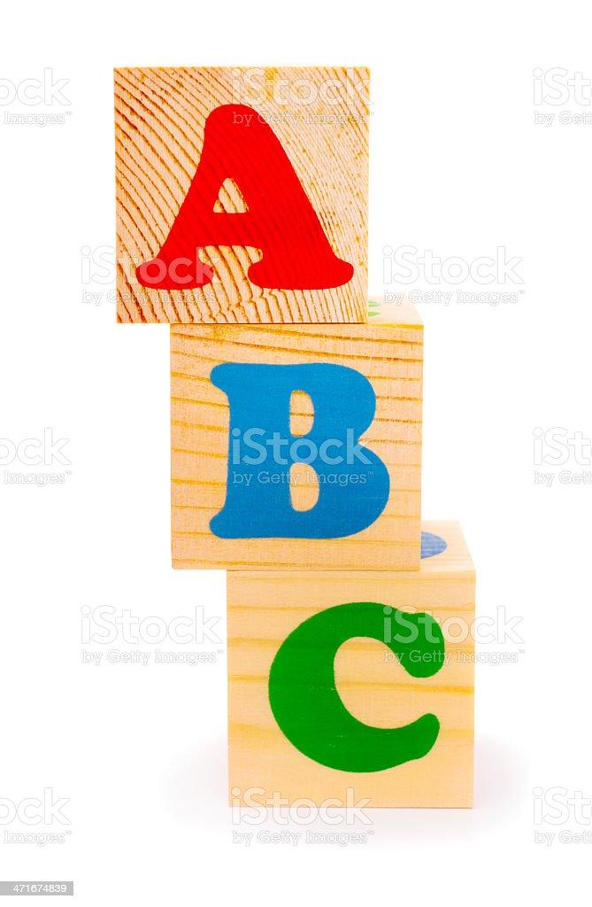 Alphabet letter ABC blocks royalty-free stock photo