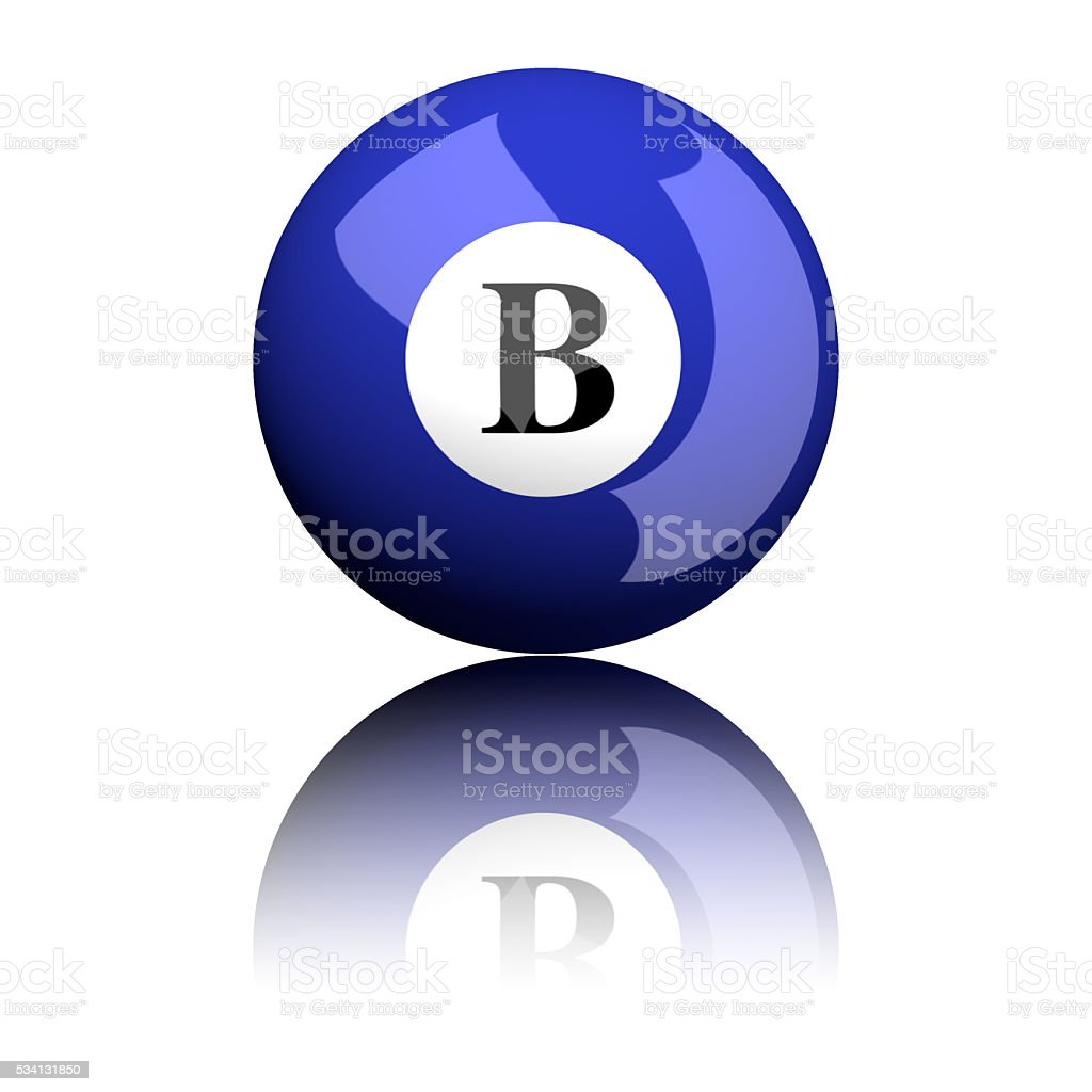 Alphabet Letter B Sphere 3D Rendering stock photo
