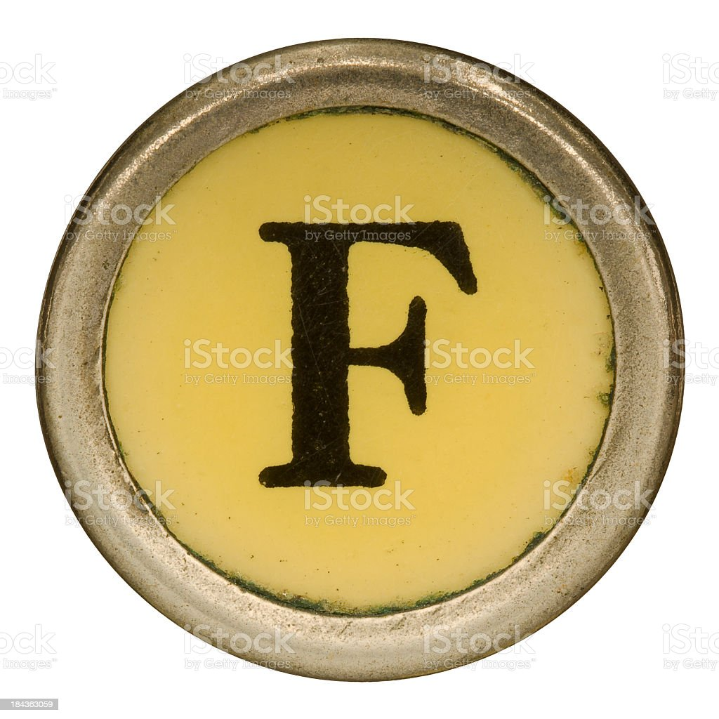 Alphabet - Letter F from old Manual Typewriter. royalty-free stock photo