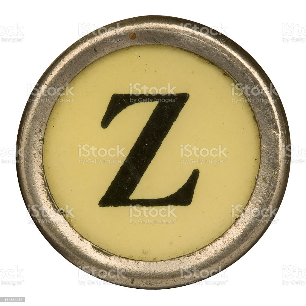 Alphabet - Letter Z from old Manual Typewriter. royalty-free stock photo