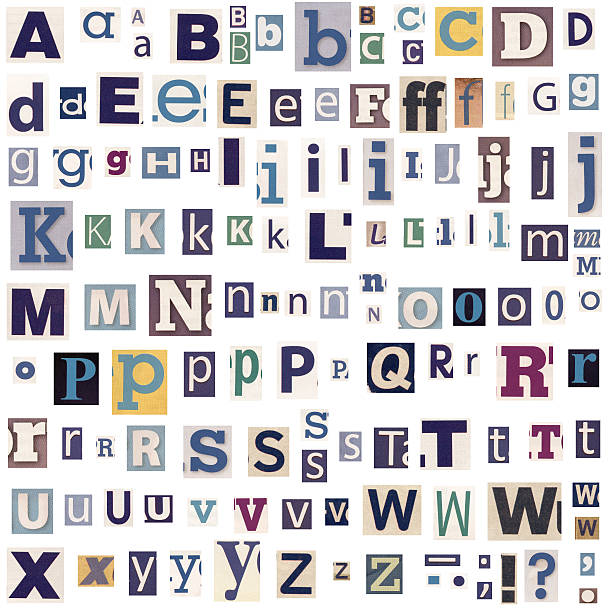 Alphabet capital letter colors multi colored pictures images and alphabet letters made of newspaper and magazine stock photo spiritdancerdesigns Choice Image