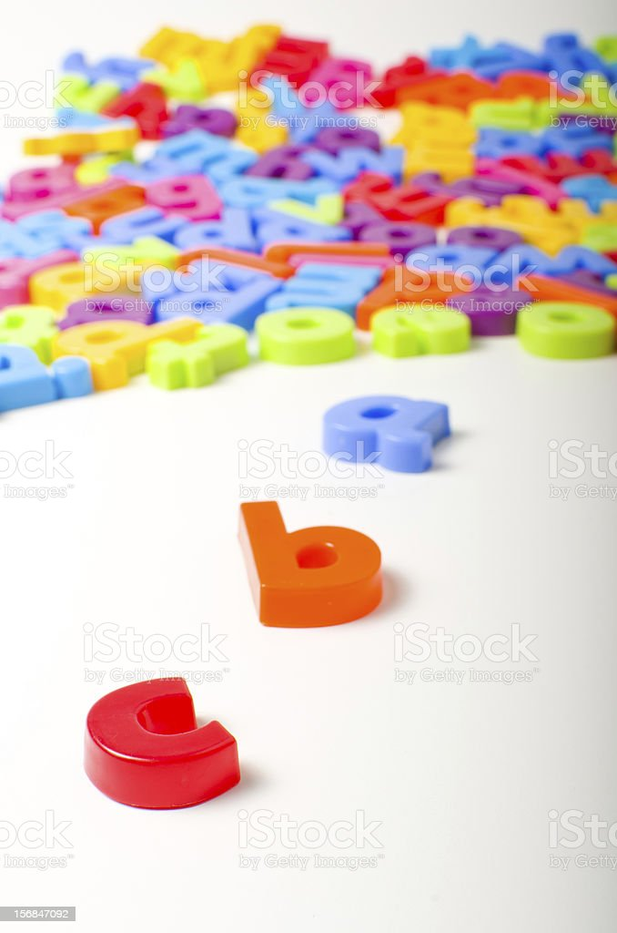 Alphabet letters royalty-free stock photo