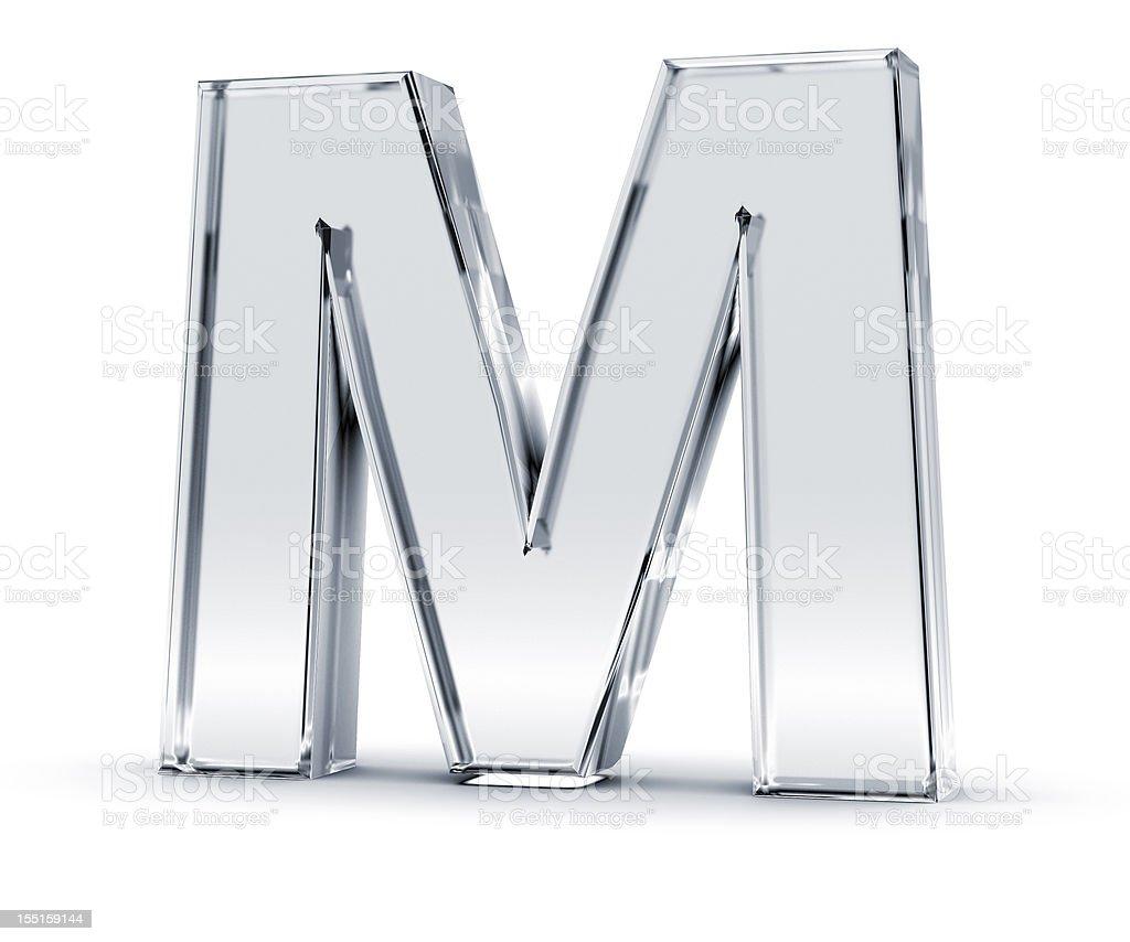 Alphabet M stock photo