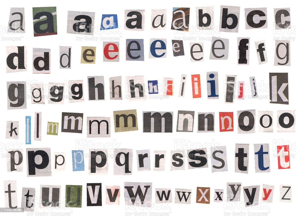 Alphabet Newspaper Lowercase Letters Stock Photo 144276486