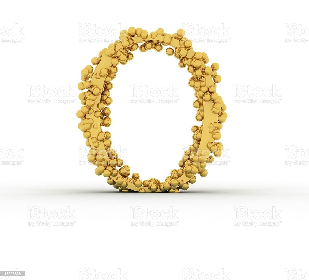 Alphabet O royalty-free stock photo